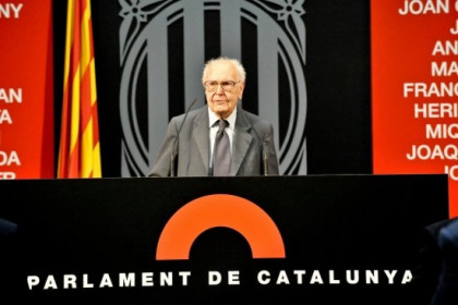 Heribert Barrera was President of the Catalan Parliament between 1980 and 1984 (by ACN)