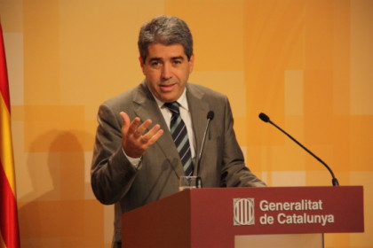 The Spokesperson for the Catalan Government in a recent press conference (by X. Alsinet)