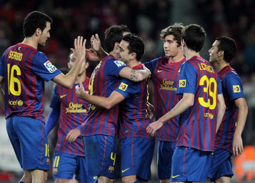 Barça scored nine goals against L'Hospitalet at the Spanish Cup (by FC Barcelona)