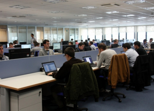 The 600 square metre room where the 50 initial IT professionals work (by N. Torres)