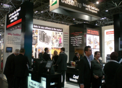 The ICG stand in Hannover's CeBIT trade fair (by ICG Software)
