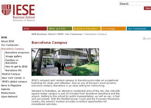 A caption from the IESE's website (by IESE / ACN)