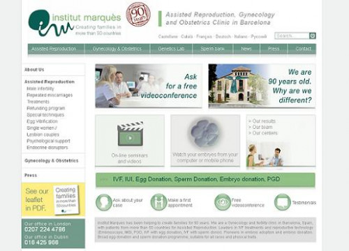 The website of the Institut Marquès (by Institut Marquès / ACN)