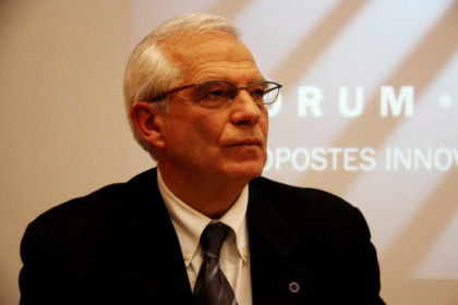 Borrell in a moment of the presentation of the book he has writen together with Brussels-based journalist Andreu Missé (by ACN)