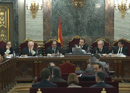 Image of Spain's Supreme Court during the independence trial on February 28, 2019