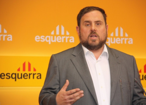 ERC' President, Oriol Junqueras, last Monday (by A. Moldes)