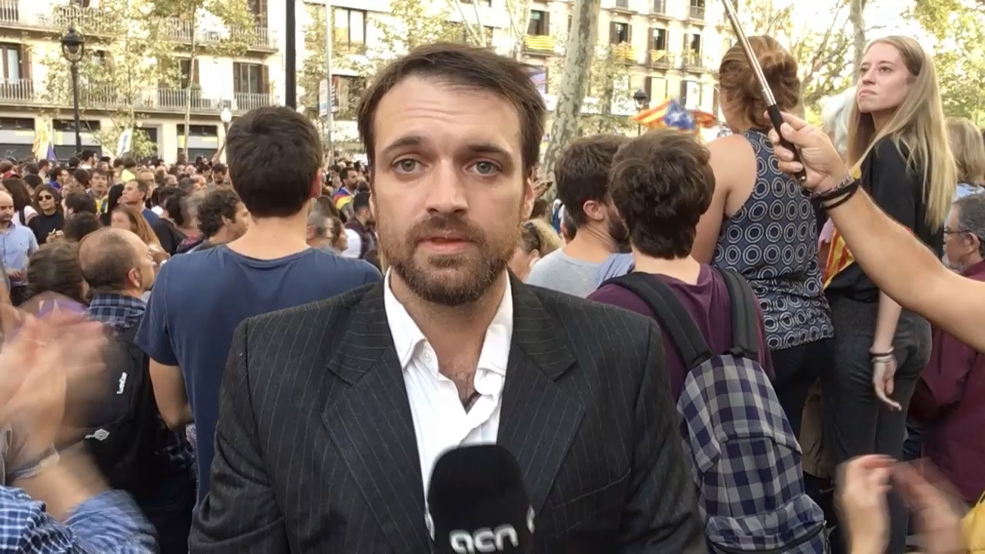 3-Oct-17 TV News: 'Catalonia is on strike'