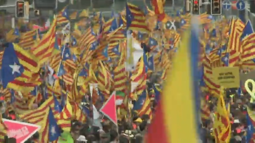 2018 Catalan National Day pro-independence rally underway