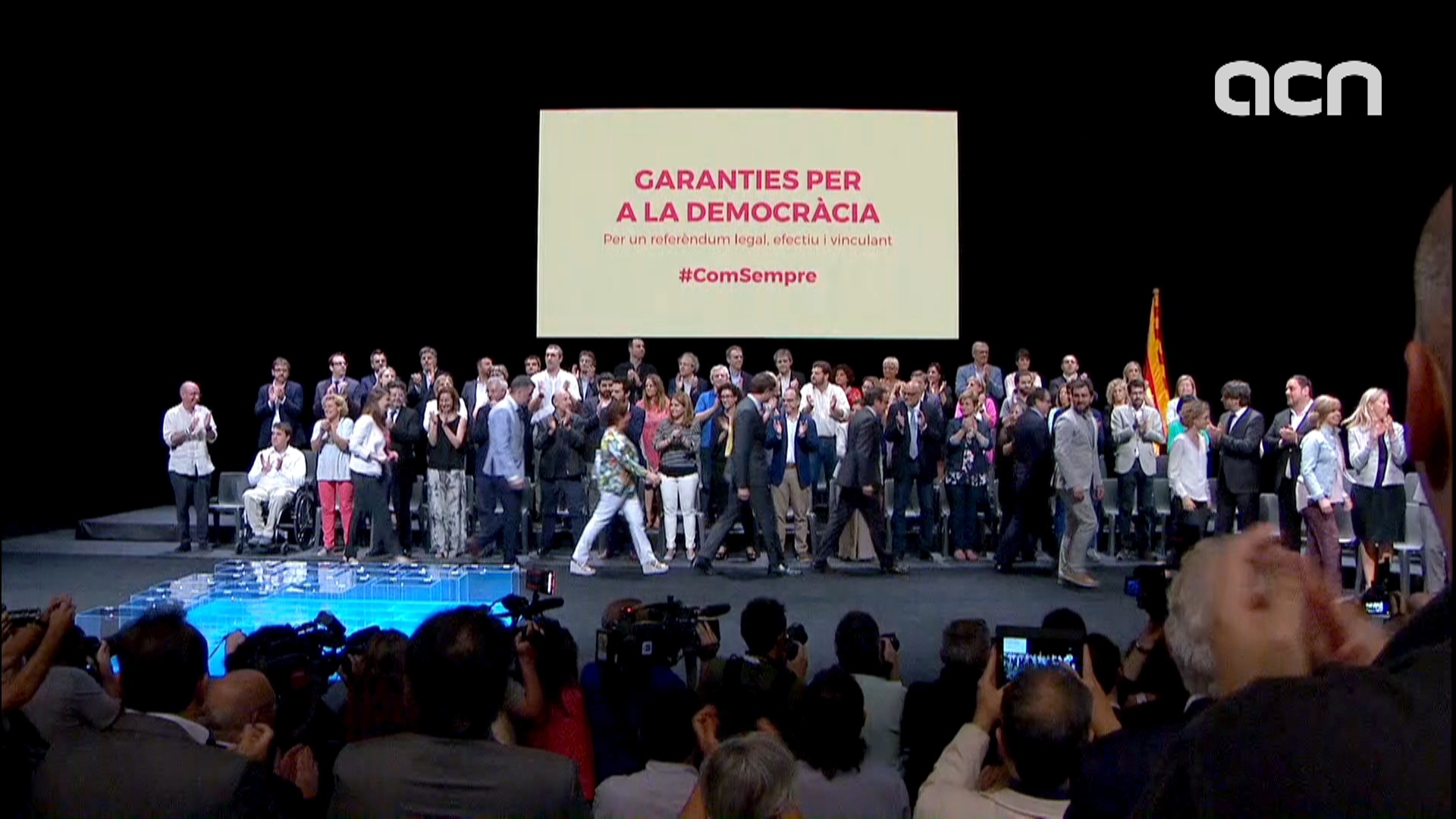 Details about referendum on independence announced in a show of force by Catalan government