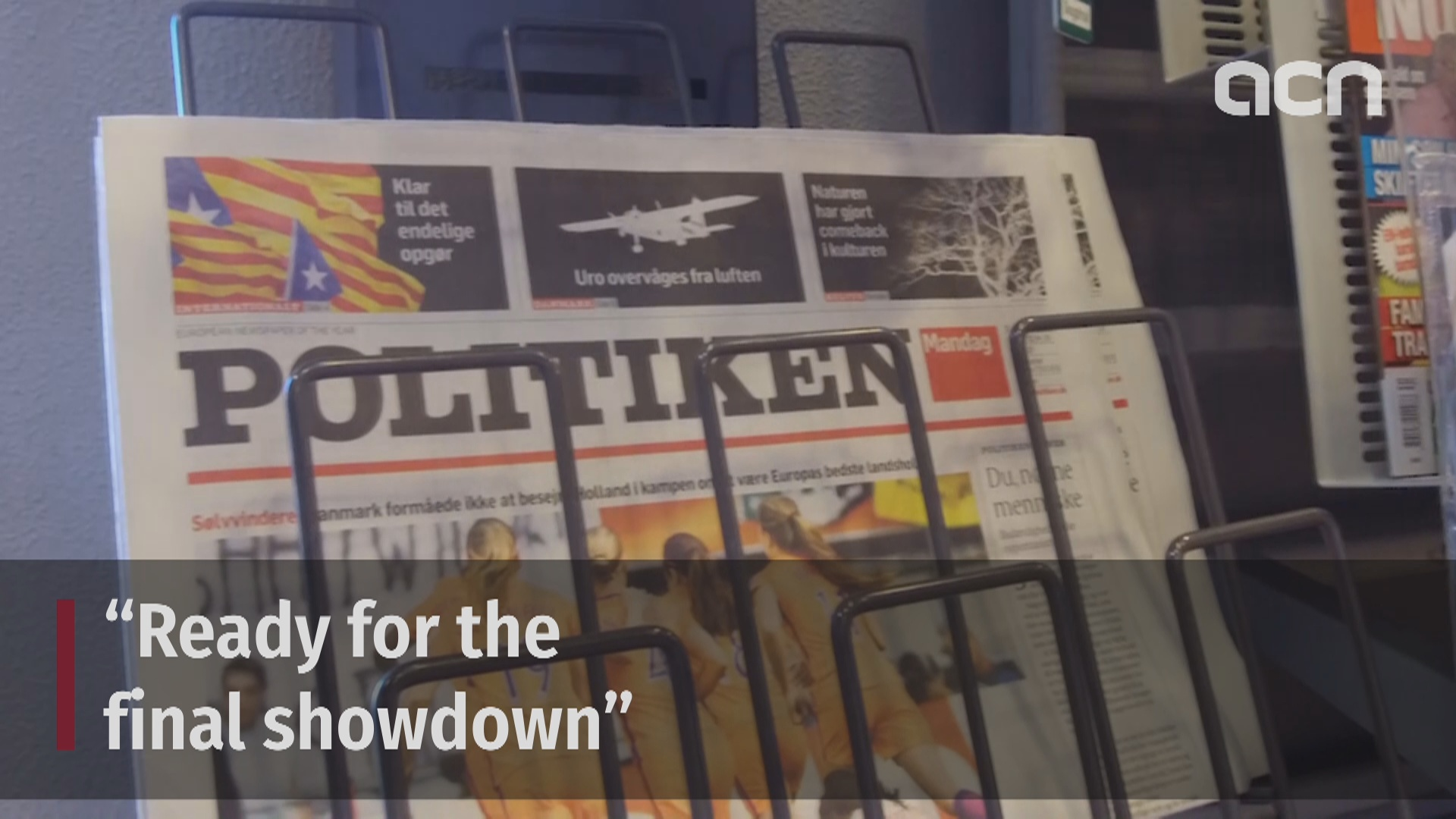 The conflict between Catalonia and Spain explained on the front page of the Danish newspaper 'Politiken'