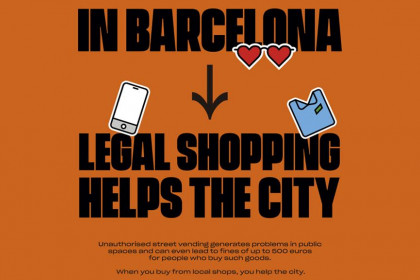 Poster of the campaign 'Legal shopping,' launched by Barcelona local government on August 2, 2019 (Ajuntament de Barcelona)