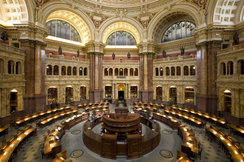 Image of the library of the US Congress (by Carol M. Highsmith/Wikipedia)