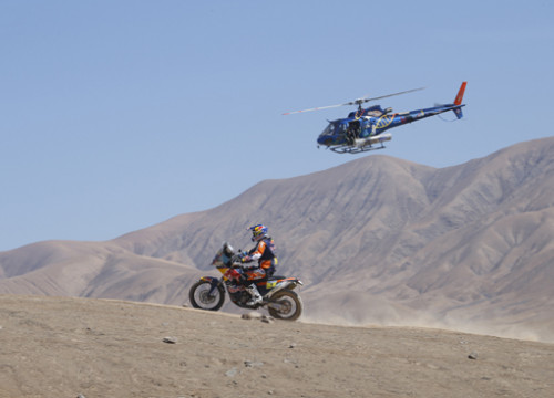 Marc Coma during the Dakar 2015 (Copyright A.S.O / DPPI / F. Le Floch)