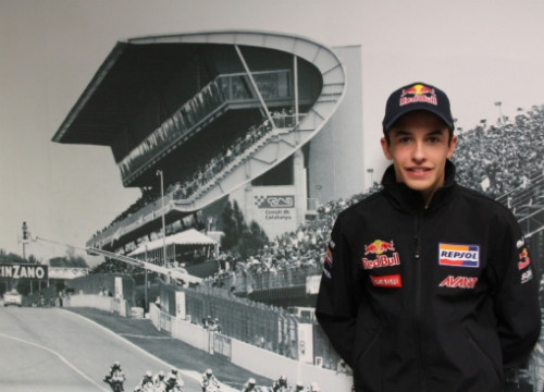 Marc Márquez at an interview with the CNA in 2010 (by N. Vidal / ACN)