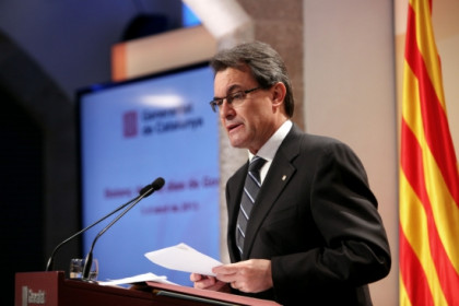 The President of the Catalan Government, Artur Mas, at the press conference he offered on Wednesday (by O. Campuzano)