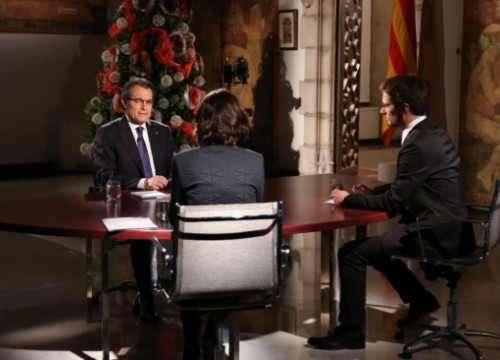 A moment of TV3's interview to the President of the Catalan Government (by J. Bedmar)