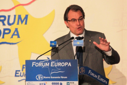 The President of the Catalan Government, Artur Mas, giving his conference in Madrid (by R. Pi de Cabanyes)