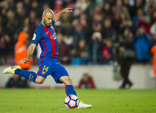 Javier Mascherano scored against Osasuna his first goal with the 'blaugranes' (by FCB)