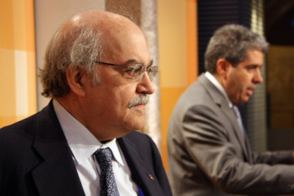 The Catalan Finance Minister (left) and the Spokesperson for the Catalan Government (right) (by R. Garrido)