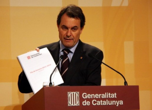 The Catalan President Artur Mas presenting the Government's plan for 2011-2014 (by P. Mateos)