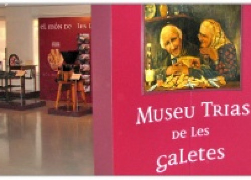 A poster of the museum dedicated to the Catalan cookies Trias