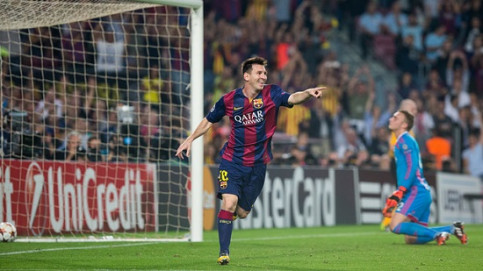 Leo Messi in the last game against Ajax at the Camp Nou (by FC Barcelona)