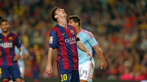 Leo Messi could not score against Celta de Vigo (by FC Barcelona)