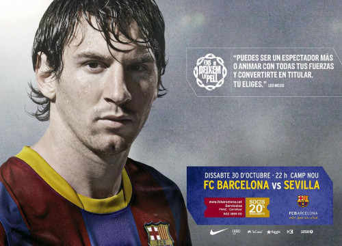 "A picture of Leo Messi for the ""We give everything"" campaign (by FCB)"