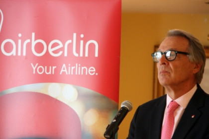 Álvaro Middelman, Air Berlin President for Spain and Portugal in a recent press conference (by ACN)