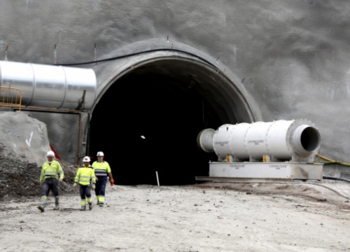 The entrance to the new tunnel in Central Catalonia's postash mines (by E. Escolà)