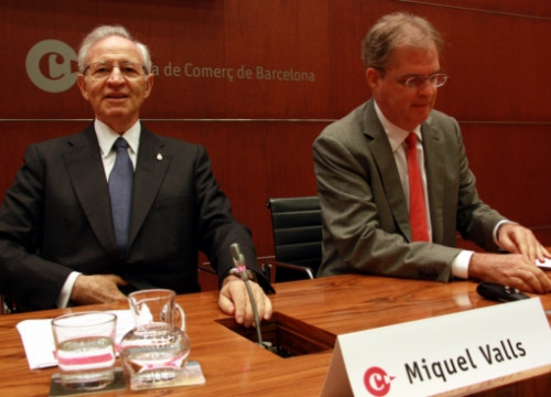 The President of Barcelona's Chamber of Commerce, Miquel Valls (by L. Roma)