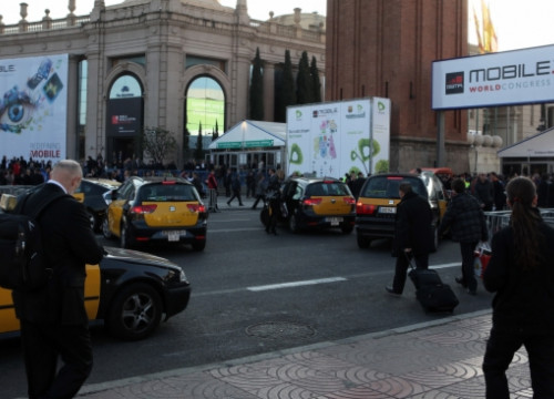 The entrance to the 2012 Mobile World Congress, which takes place each year in Barcelona (by O. Campuzano)