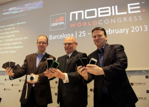 Ben Wood, John Hoffman and Michael O'Hara at the GSMA Mobile World Congress' presentation (by A. Recolons)