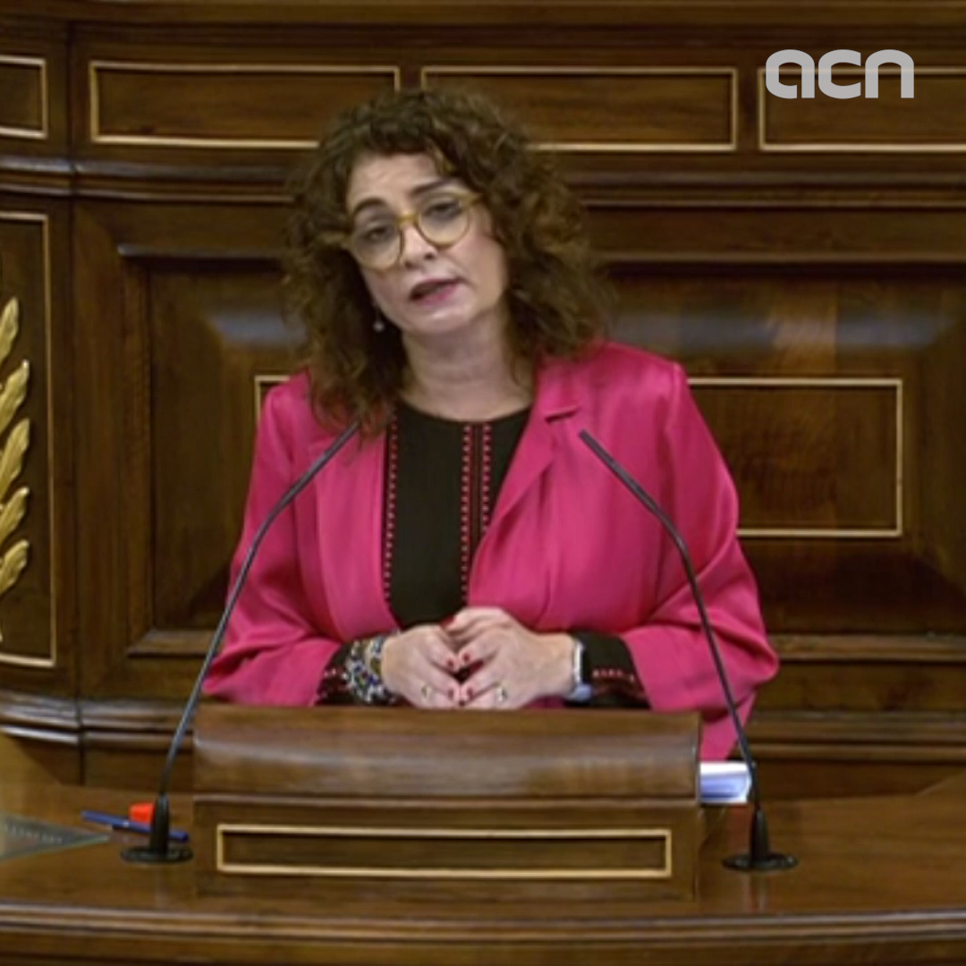 """This government will not accept discussing Catalonia's right to self-determination in Congress,"" says Spanish finance minister Maria Jesús Montero"