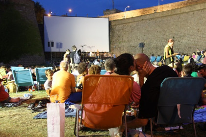 A relaxed atmosphere in Barcelona's Sala Montjuic open air cinema festival (by Rebecca Lock)
