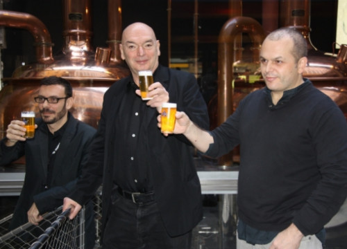 Jean Nouvel (centre) has designed the new Moritz's multifunctional space (by J. Molina)