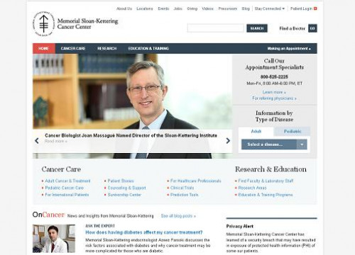 MSKCC's website announcing Massagué's appointment (by Memorial Sloan-Kettering Cancer Centre)
