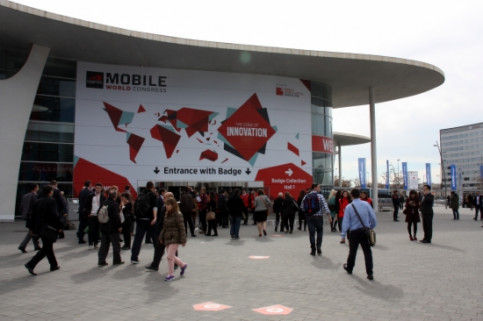 The entrance of the 2015 Mobile World Congress in Fira de Barcelona's Gran Via venue (by ACN)