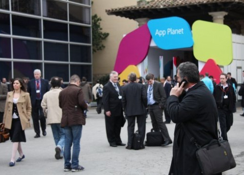 One of the entrances to the Applications' Planet at the Mobile World Congress (by J. Pueyo)
