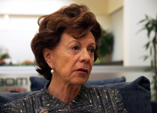 Neelie Kroes during the interview with ACN at the Mobile World Congress in Barcelona (by J. R. Torné)