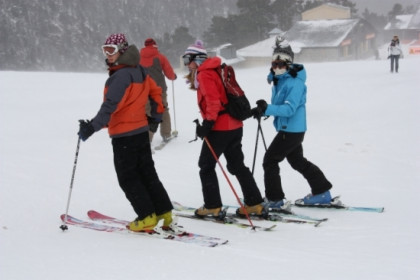 Skiers at the Catalan Pyrenees (by ACN)