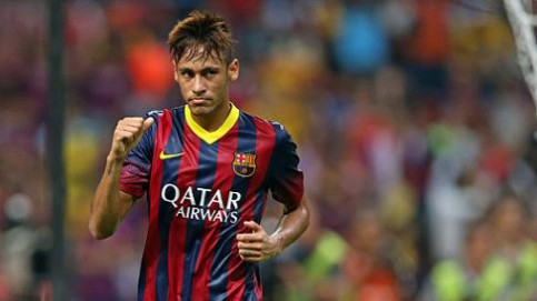 Neymar scored a superb goal against a selection of Malaysian players (by FC Barcelona)