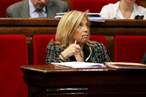 The Vice President of the Catalan Government, Joana Ortega, at the Catalan Parliament (by ACN)