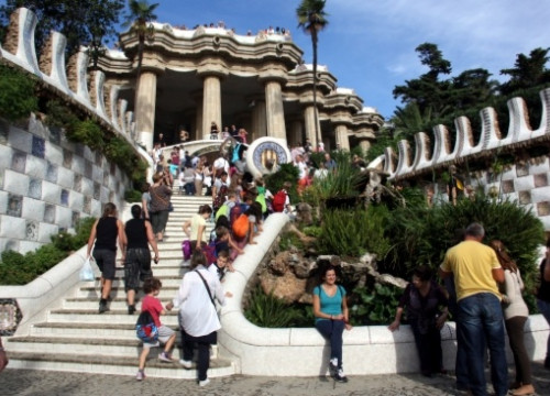 Barcelona's Parc Güell on Wednesday (by L. Roma)