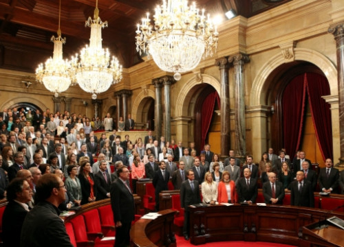 The Catalan Parliament on Thursday (by O. Campuzano)
