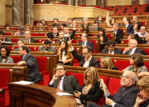 Besides the round of talks, the Catalan Parliament was holding a plenary session on Thursday (by A. Moldes)