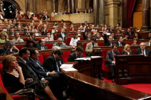 The Catalan Parliament voting on the motions to substitute the budget bill (by O. Campuzano)