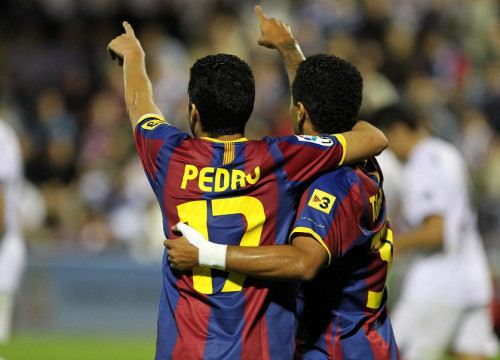 Pedro during last game against Ceuta (by FC Barcelona)