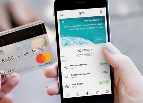 Student bank account (from N26 website)