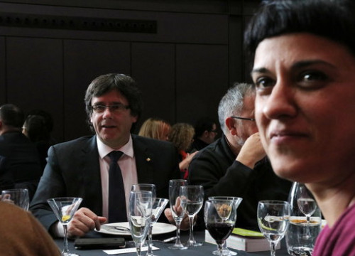 The Catalan leader Carles Puigdemont and the former CUP MP Anna Gabriel (by Rafa Garrido)